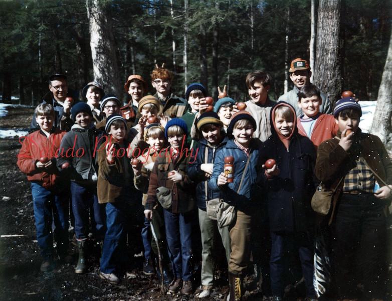 (April 1970) Boy Scouts hike.