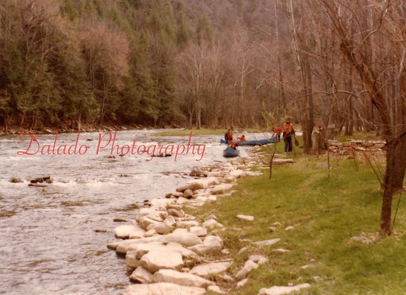 (1978) Boy Scouts on creek.