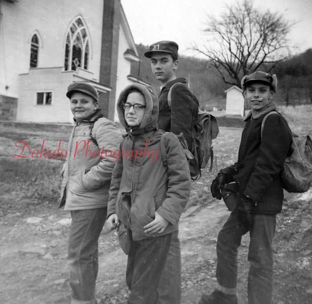(1959) Boy Scouts hike.