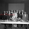 (03.01.1956) Mount Carmel Lions Club on March 1, 1956, are, first row, from left, Joseph Bradley, Chief Burgess, Edwin Witkoski, Edward Dallabrida, John Langis and William Turner; back, Clifford Farr, R. David Thomas, A.W. Ross and John Kutchen, chief Burgess of Kulpmont.