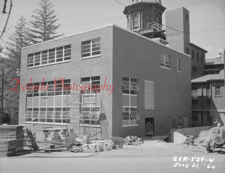 (July 1964) Shamokin Hospital work.