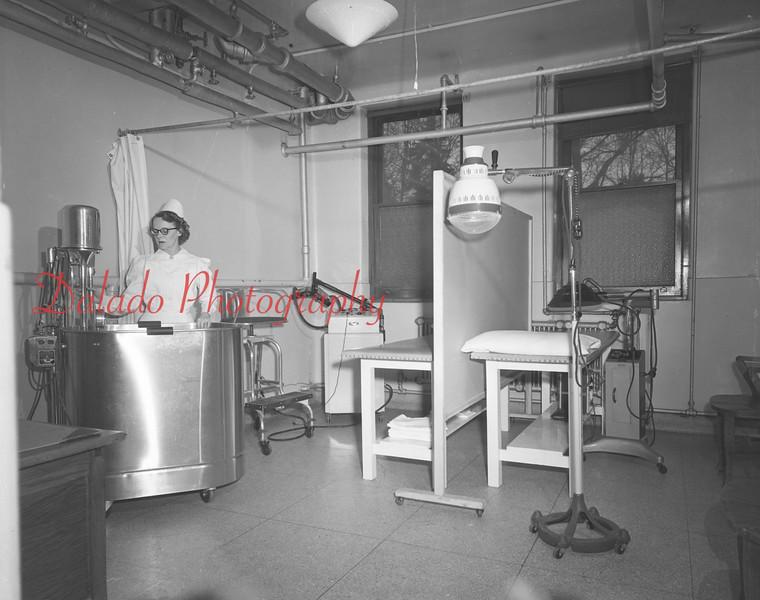 (1949 or 50) Shamokin Hospital interiors.