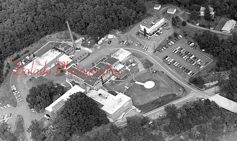 An aerial view of the hospital.