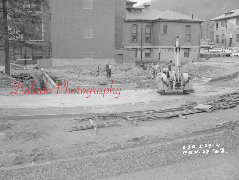 (Nov. 1963) Shamokin Hospital work.