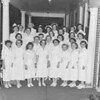 (04.24.52) Shamokin Hospital nursing and surgical staff are, from left, Mrs. Eliza Dimmick, Mary Ravis, and Gervine Ghezzi; standing, Patricia Joyce, Lucy Bailes, Ann Umbler, Helen Purcell, Gloria Schrader, Betty Brecker and Ann Stanker.