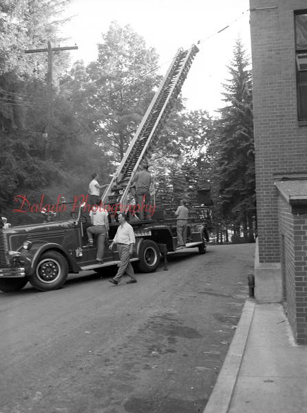 (Aug. 1955) Fire truck at Shamokin Hospital.