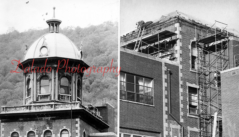 The dome, built in 1911, was removed Sept. 20, 1977, due to deterioration.