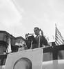 (Nov. 1956) Vice President Richard Nixon campaigning in Sunbury for Dwight D. Eisenhower.