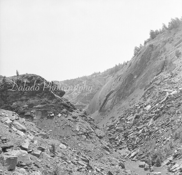 """(June 1962) Whaleback, known as the """"Grand Canyon of Bear Valley"""" in 1962."""