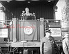 (10.22.1952) President Harry Truman at a whistle-stop address at Northumberland while campaigning for Adlai Stevenson, democratic nominee for president, and John Sparkman, vice president..