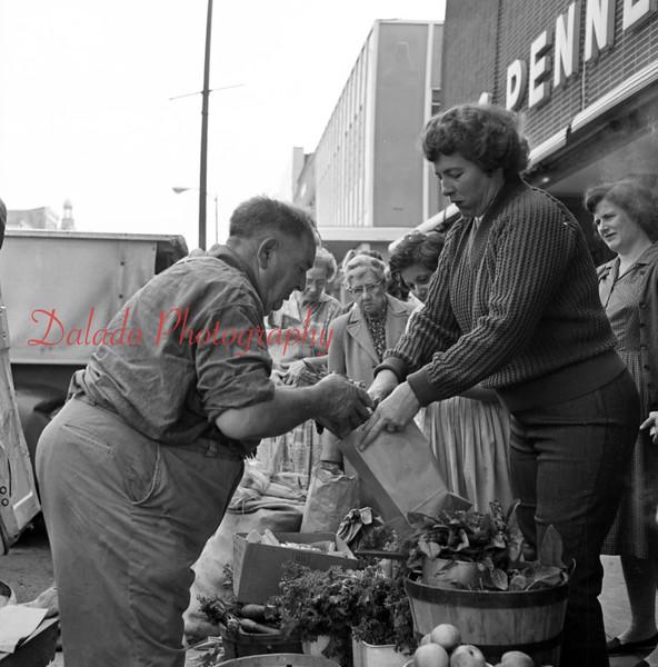 Market in downtown Shamokin.