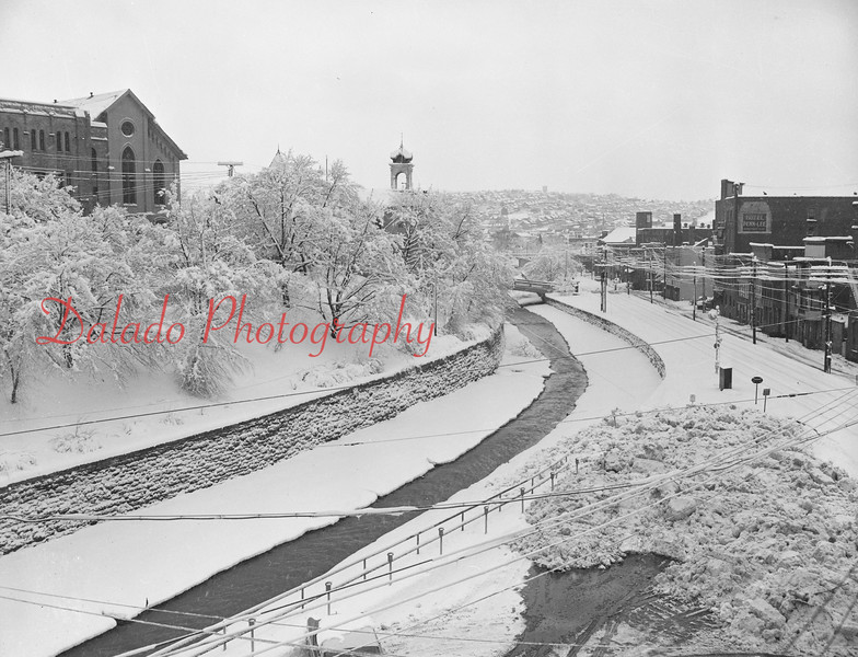 (1966) Water Street and the snow.