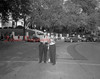 (Oct. 1951) Crossing guards at the Washington School in Shamokin.