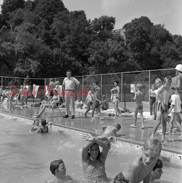 Shamokin pool. Pictured in the distance is Fritz Reed.