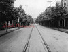 (1920s) Pictured are trolley tracks leading south down Shamokin Street.