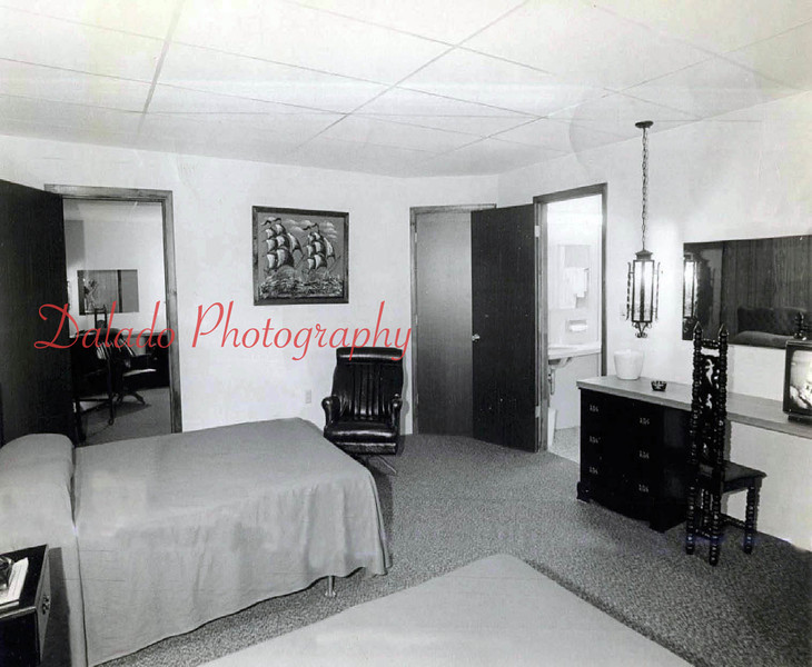 (1974) ...Gail Shutt, owner of Custom Signs, Elysburg, created the signs on the exterior of the building and also created several paintings of Independence Street that hung along a hallway. The paintings were reconstructions of photos based-off of photos taken by Thomas Studios...