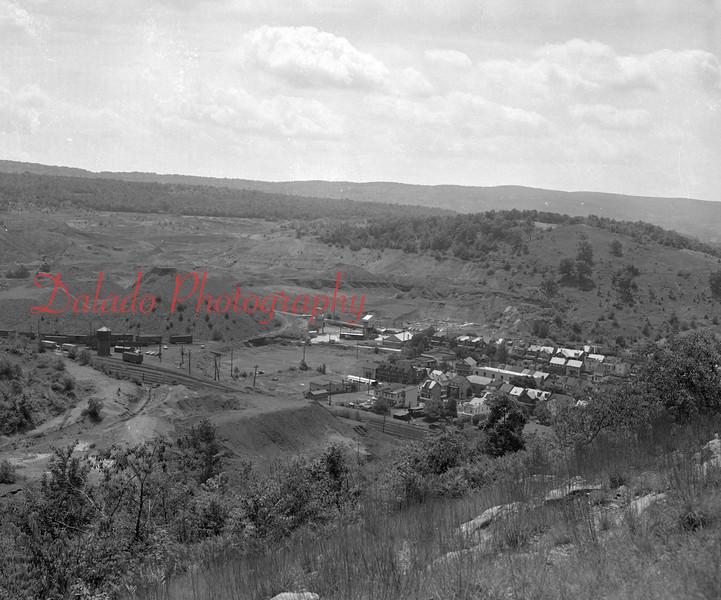 Shades Field and the Reading Railroad yard in the Fifth Ward of Shamokin.