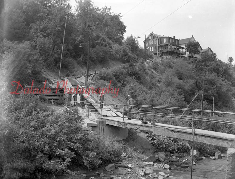 (09.15.1955) Patsy's Bridge in the Fifth Ward of Shamokin.