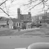 "(1956) Spurr Gas Station- In the distance are Walnut Hosiery, left, (later Walnut Towers Inn and the Coal Hole) and Brest Packing (later Kreisl Brothers Inc. and Croninger Packing Co.), right. On April 28, 1962, Kreisl, a meat packing plant, closed permanently. Henry Kreisl, owner who employed 50 people, said that he ""could not meet union demands"" during negotiations for a new contract. The plant had operated since 1939, when the Kreisl brothers acquired it from Harry Brest. The building was lastly occupied by Croninger. The structure was purchased by John Luckens, who then demolished it on Jan. 22, 1974, for parking for his new motel, Walnut Towers. Luckens and eight other people died in an arson fire at the motel on Jan. 2, 1977. <a href=""http://www.daladophotography.com/The-Thomas-Collection/Old-Fire-Fighting/3333623_xc79SC#!i=1321295761&k=CfXnPZn"">http://www.daladophotography.com/The-Thomas-Collection/Old-Fire-Fighting/3333623_xc79SC#!i=1321295761&k=CfXnPZn</a>"