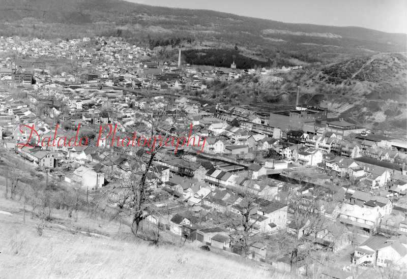 (1964) The Fifth Ward of Shamokin from Academy Hill.