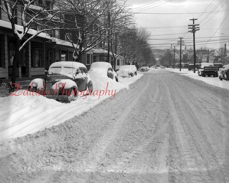 (Dec. 1951) Snow on Sixth Street in Shamokin.