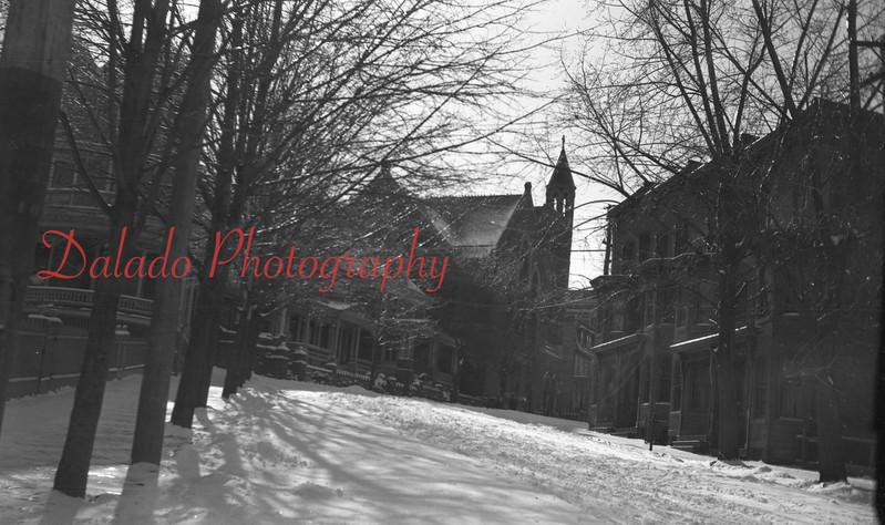 Eighth Street, Shamokin, in the snow.