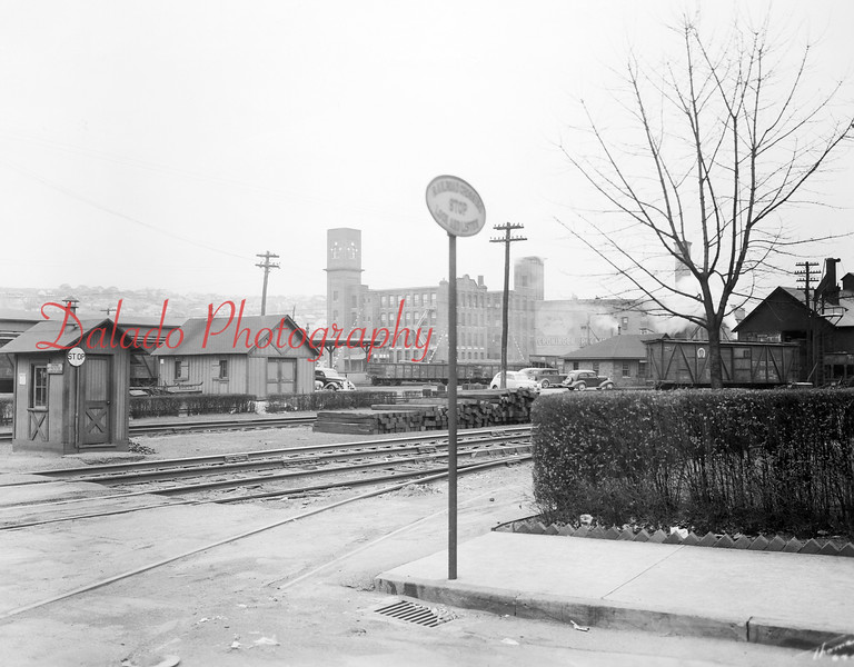 "At the corner of Independence and Sixth streets. You may be asking, ""Where's this?"" The answer is Weis Market. Before there was Weis, there were train tracks that went through the property. The Coal Hole (Walnut Towers) is the huge building in the background."