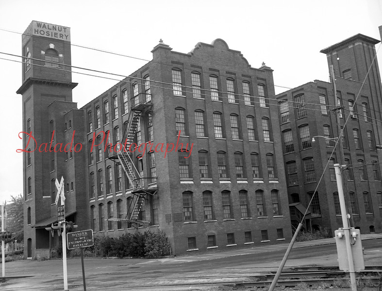 Walnut Hosiery- Work started in May of 1973 to convert the former Walnut Hosiery Mill into the Walnut Towers Inn.