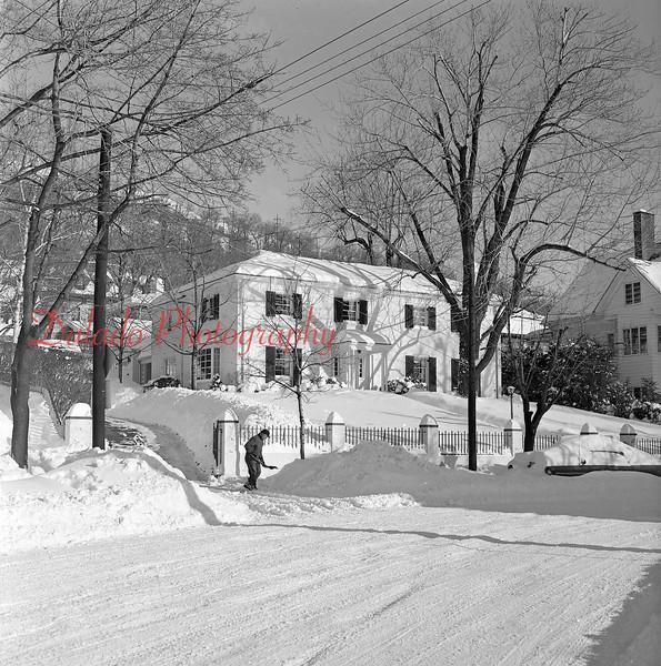 (Jan. 1964) Troutman home along Sunbury Street.