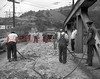 (1950 or 51) Work on the Cameron Bridge.