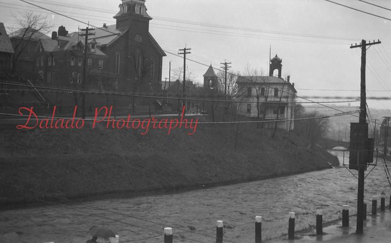 Old photos of Shamokin Creek from Water Street.