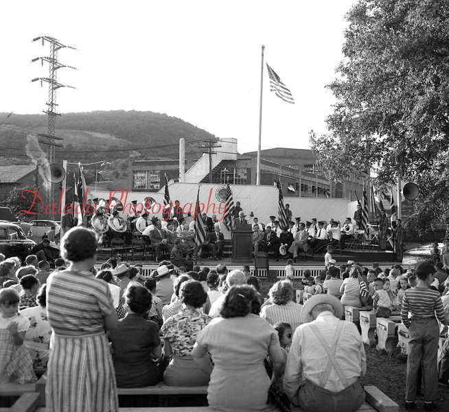 Elks Flag Ceremony at the Exchange Club band shell, now known as Claude Kehler Community Park, in Shamokin.