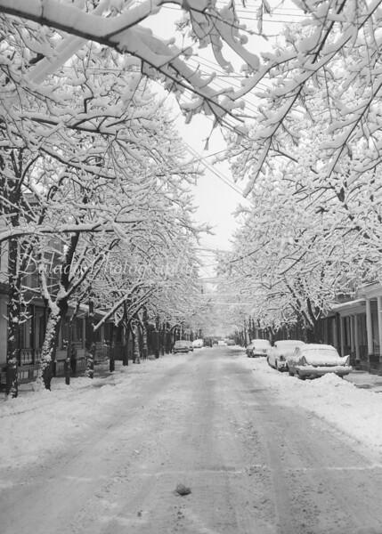(1961) Shamokin Street in the snow.