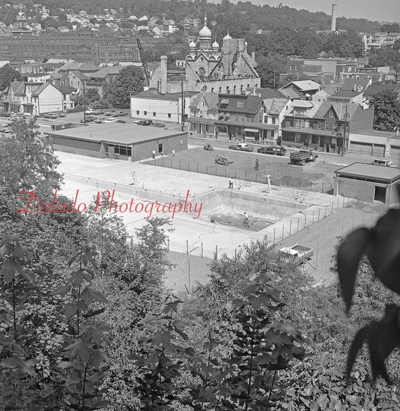 (August 1971) Shamokin pool construction.