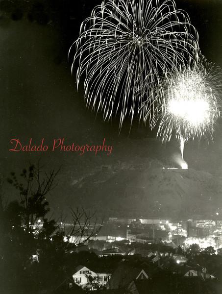 Fireworks from the Glen Burn.