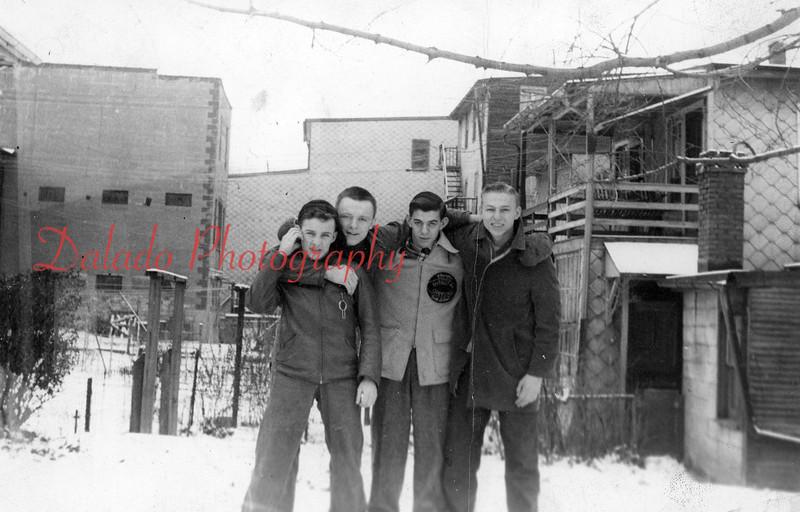 Shamokin friends in a yard off Arch Street, near the Annex.