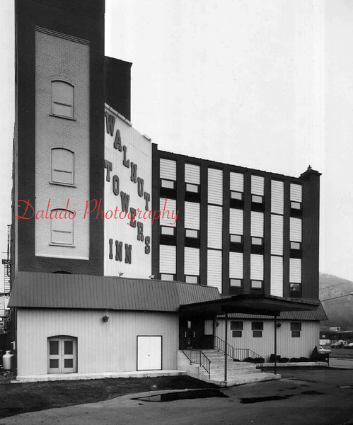 "(1974) Walnut Towers Inn- ...The four-story, 37-room building opened July 22, 1974. The fire escape was removed and windows were made smaller. Follow the link to see what the building looked like during a deadly fire Jan 2, 1977. --> <a href=""http://www.daladophotography.com/The-Thomas-Collection/Old-Fire-Fighting/3333623_xc79SC#!i=1321295761&k=CfXnPZnCoal"">http://www.daladophotography.com/The-Thomas-Collection/Old-Fire-Fighting/3333623_xc79SC#!i=1321295761&k=CfXnPZnCoal</a>  <br /> <br /> *Special thanks to Dave Van Doren for the next several photos*"