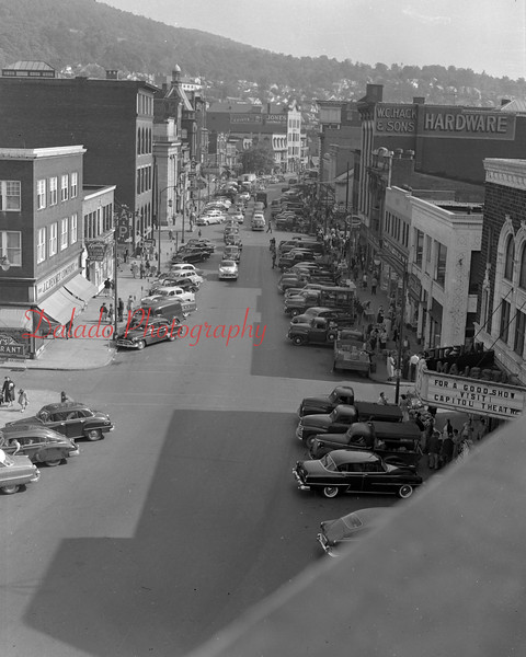 (July 1954) Downtown Shamokin.