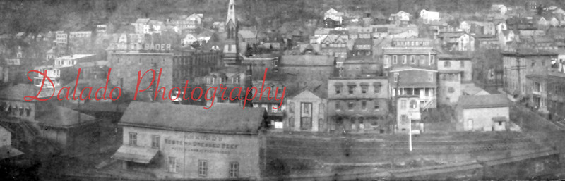 "*Low-Res* Shamokin from Academy Hill (near the ""99 Steps""). Baders Fine Furniture is seen at center-left."