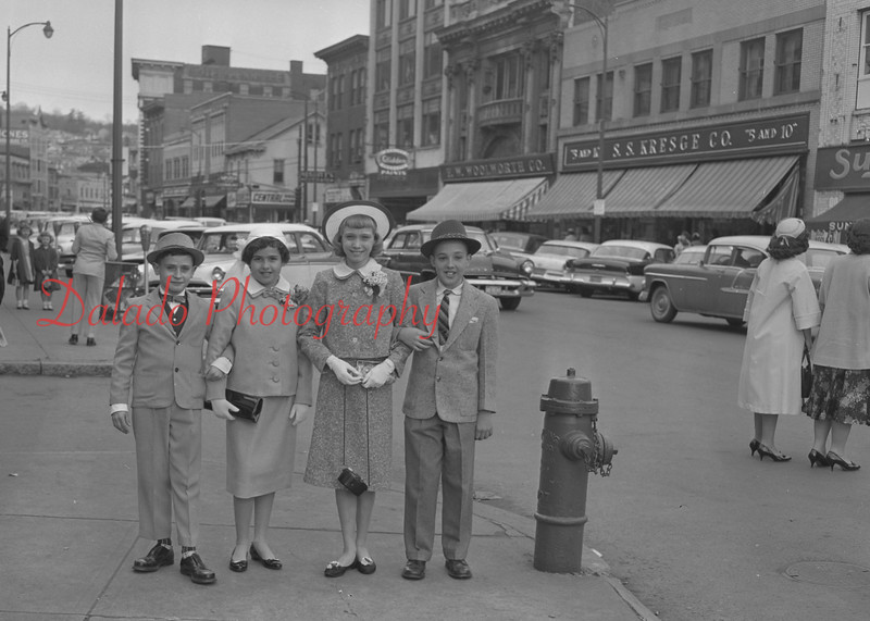 (1959) Young children strolling on Easter in Shamokin.