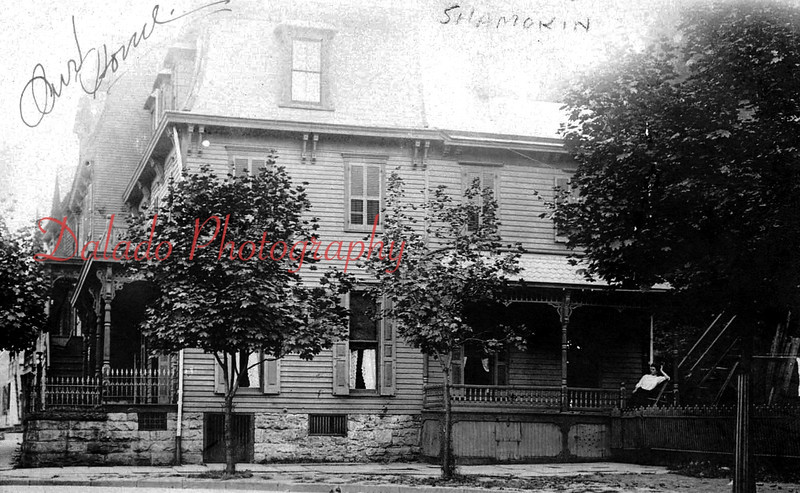 *Low-Res* Terrace Avenue- A few houses were once located next to Trinity Episcopal Church, along Lincoln Street. The area is now a paved parking lot for the Rescue Fire Company and the Lawton W. Schroyer Memorial Swimming Pool.