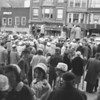 (1961) Cold weather during an Easter event in downtown Shamokin.