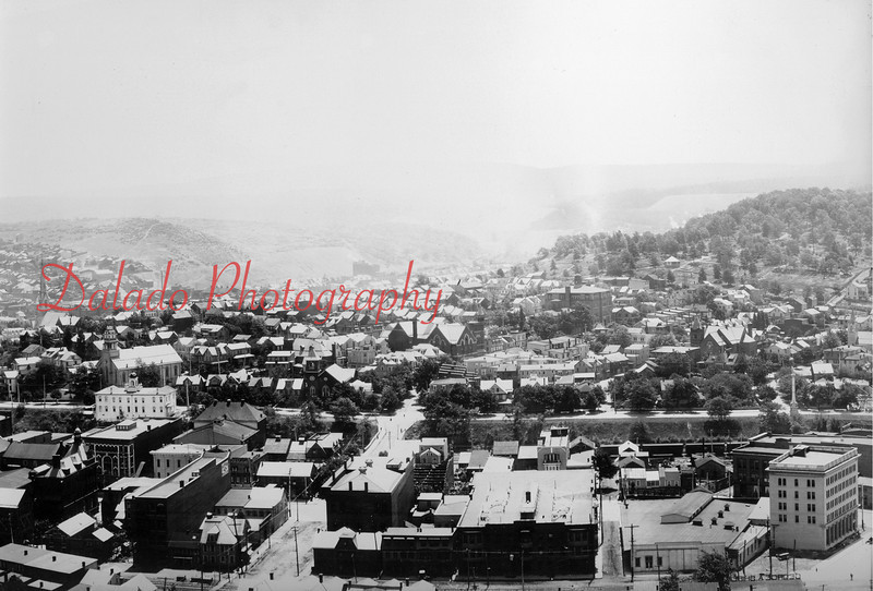 [Photo Right] Here, you can better see the first and second Shamokin High Schools.