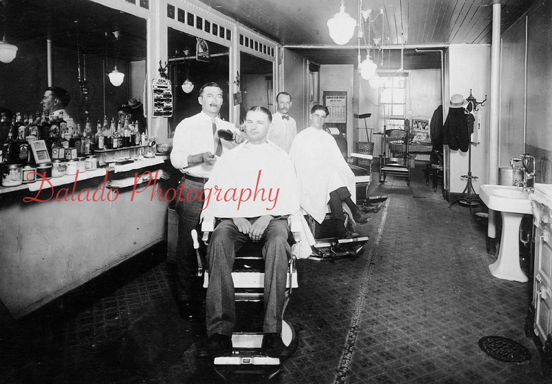 W. Metzner's barber Shop on North Shamokin Street.
