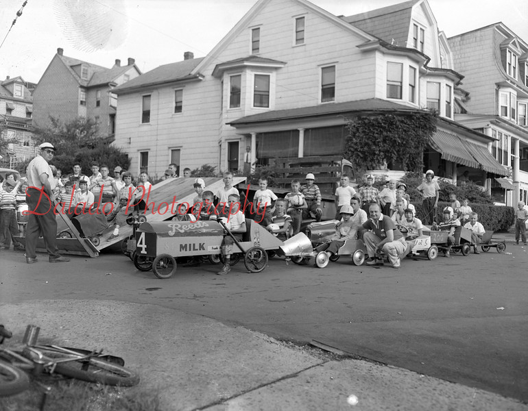 (Aug. 1954) Soap box derby in Shamokin.