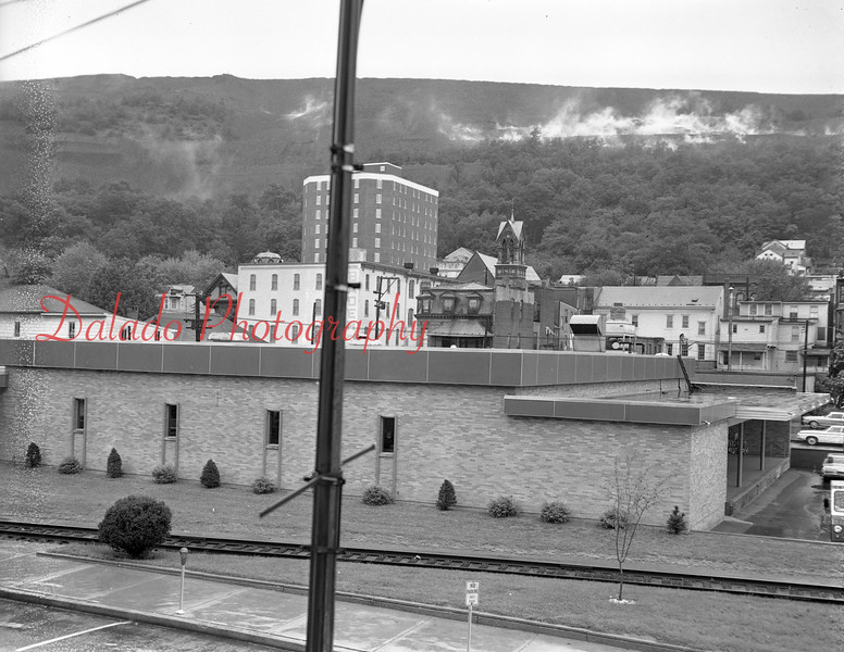 (1970) Smoke from the Glen Burn mine fire.