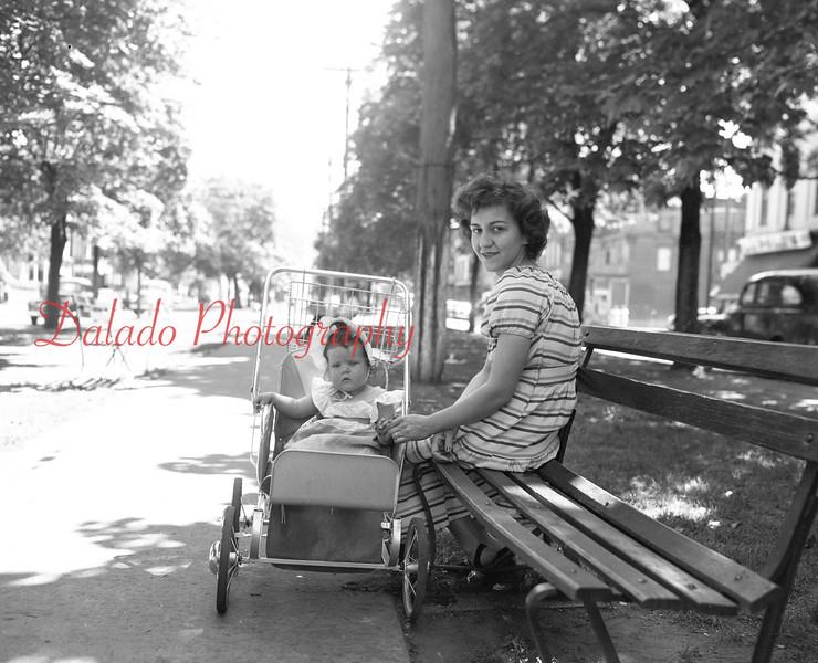 Mother along Market Street.