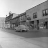 (Oct. 1957) Independence Street buildings (to the left) torn down for a bank.