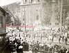 (10.01.1898) People march on Sunbury Street in a parade held prior to the unveiling of the Soldiers and Sailors Monument on Lincoln St. Students of the former Washington Grade School are in their Sunday best to watch the event.