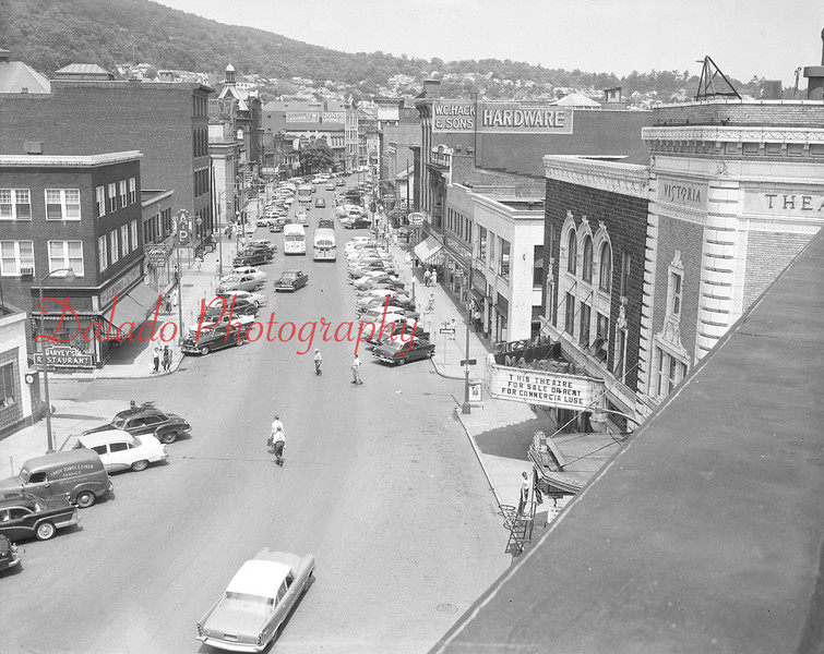 (1957) View of Independence Street looking east.